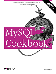 Cover image for MySQL Cookbook
